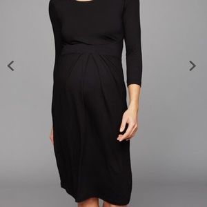 Isabella Oliver Pleated Maternity Dress